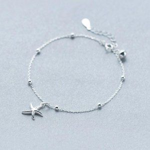 NEW 925 Sterling Silver Simple Starfish Bracelet